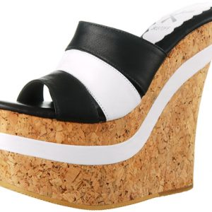Jolie Wedge - Black / White