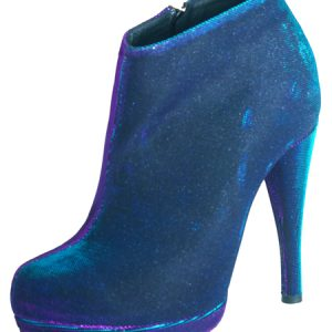 Coco Platform - Blue Iridescent Fabric