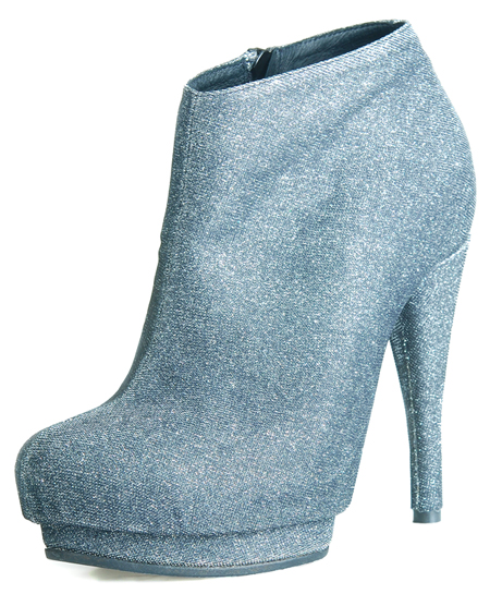 Coco Platform - Pewter Fabric