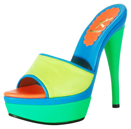 Julie Platform - Multi Neon Yellow