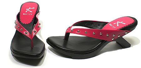 Toki Wedge - Fuchsia / Black
