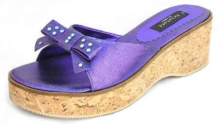 Oops Wedge - Metallic Purple
