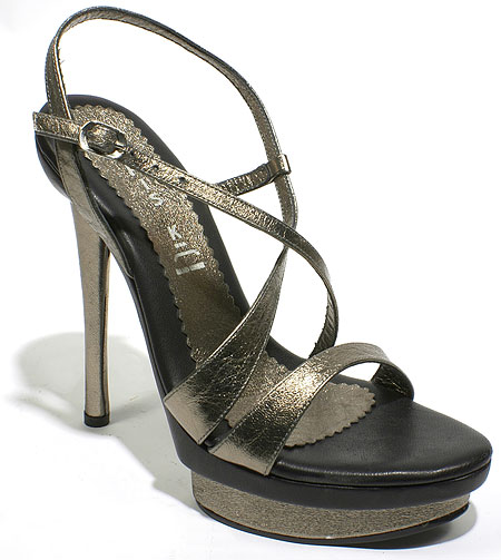 Lala Heel - Pewter Leather