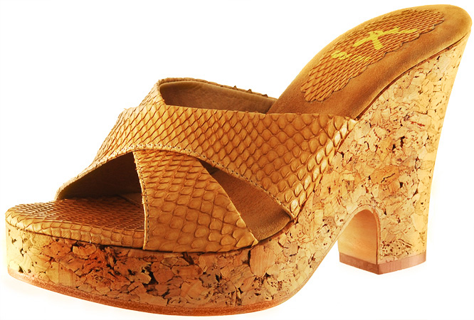 Mandy Wedge - Beige Snake