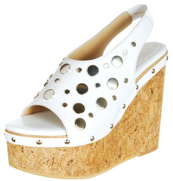 Trendy Wedge - White / Silver