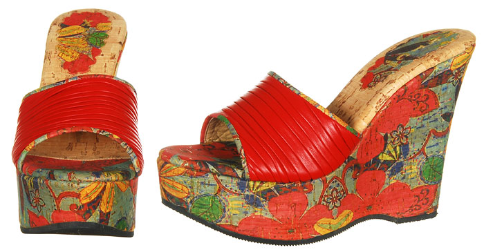 Reyna Wedge - Red