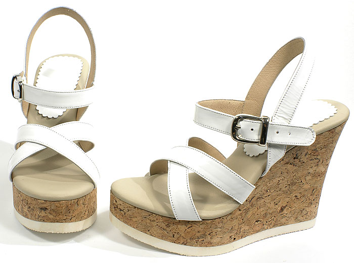 Roby Platform - White Patent