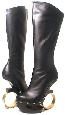 Ronda Boot - Black Leather