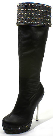 Ronda III Boot - Black Leather