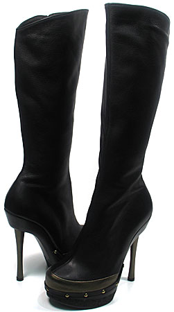 Vicky Boot - Black Leather