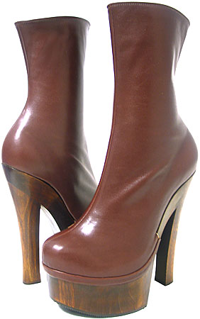 Ronda II Platform Boot - Mahogany Leather