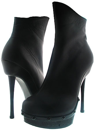 Renet Platform Boot - Black Leather