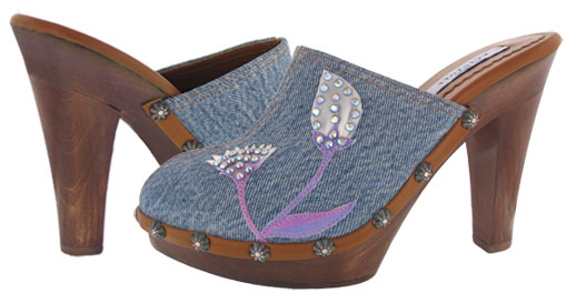 Lily Platform - Light Denim / Brown