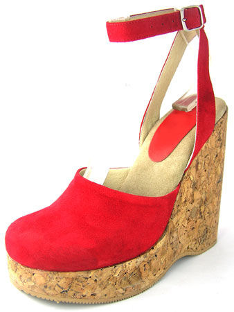 Fabby Platform - Red Suede