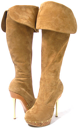 Lyza Boot - Camel Suede / Natural