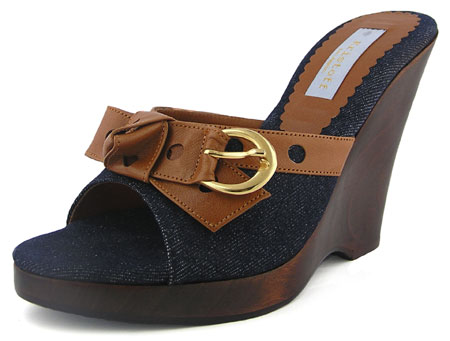 Dior Wedge - Dark Denim / Rust