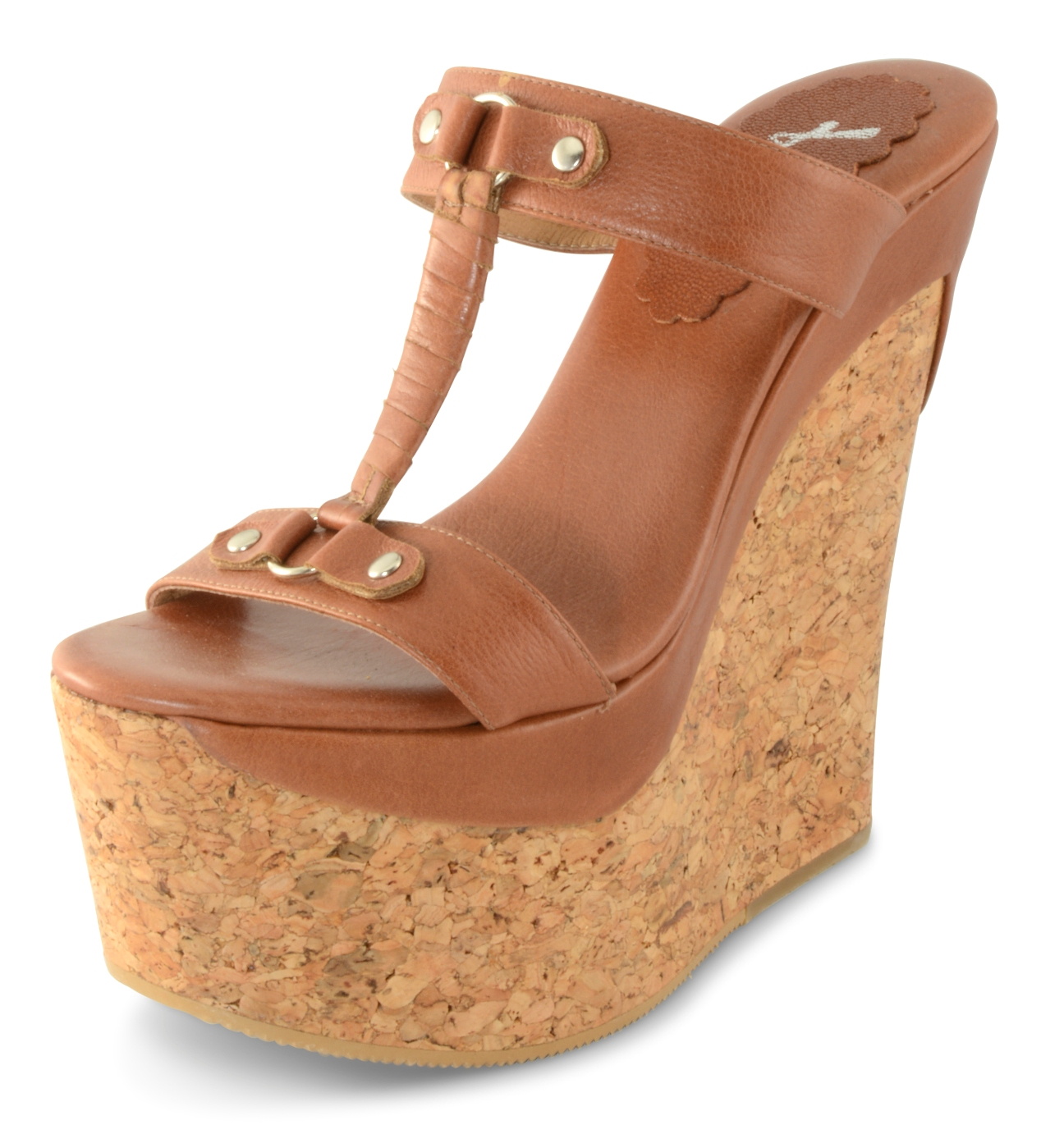 Pompei Wedge - Tan