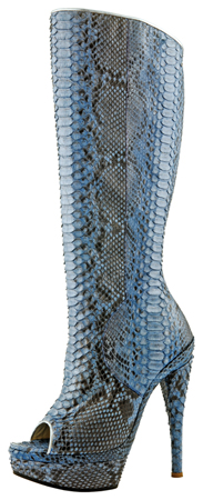 Lindsay Boot - Blue Genuine Snake