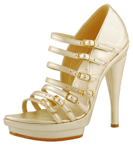 Dolly Platform - Gold Leather