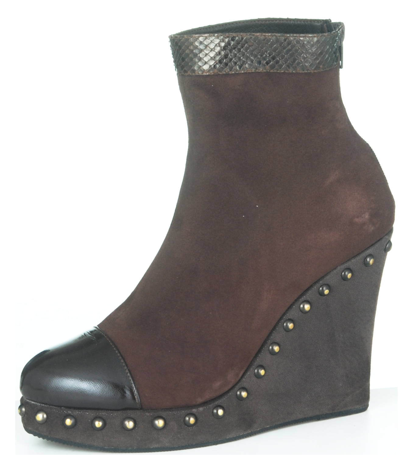 Stephie Wedge Boot - Brown Suede