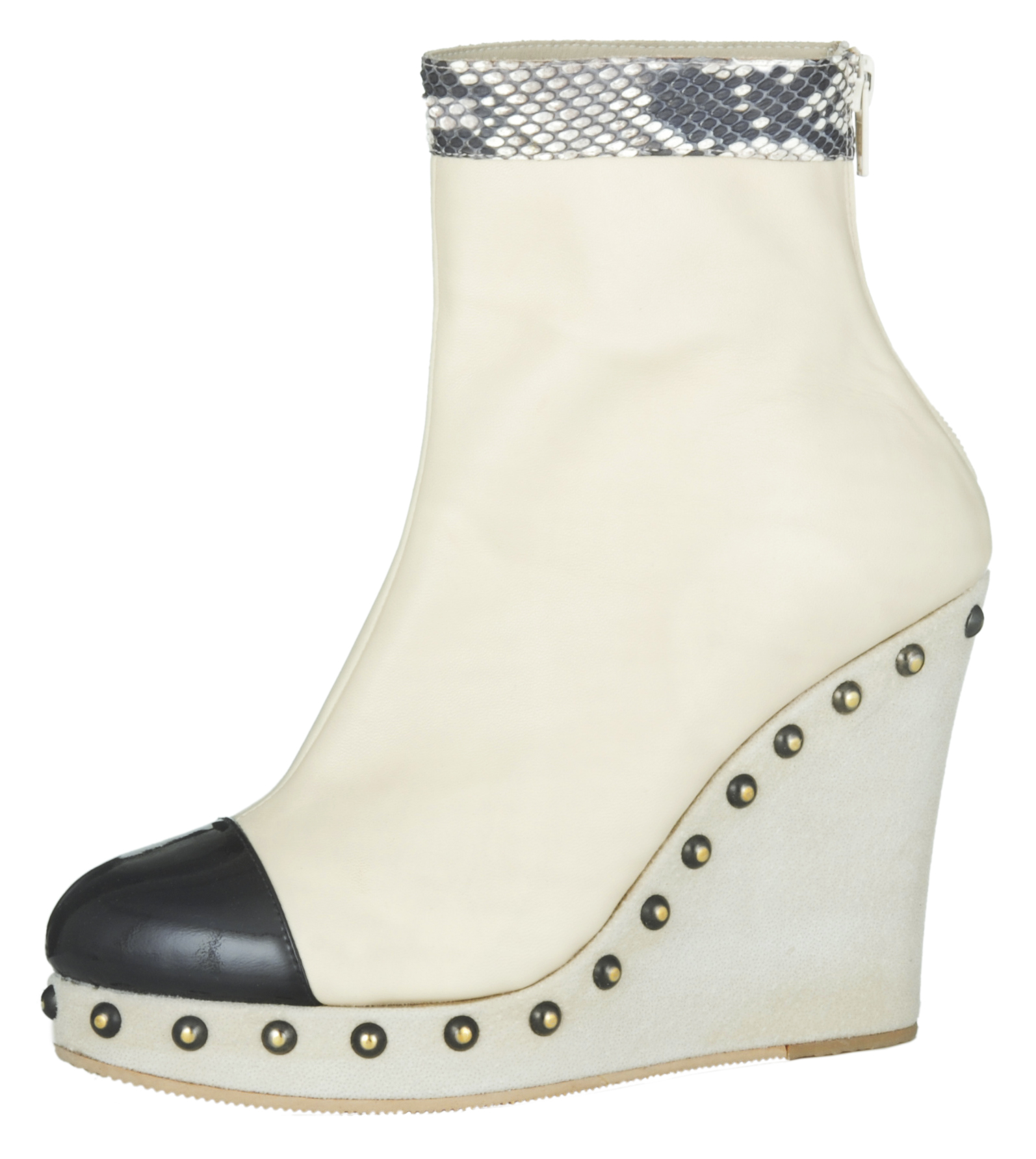 Stephie Wedge Boot - Bone