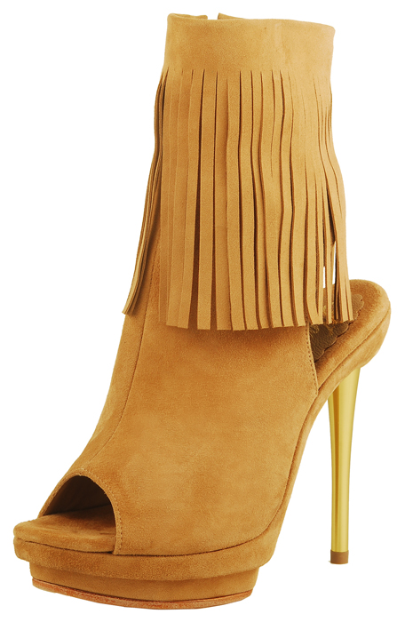 Emily Sandal Boot - Beige Suede