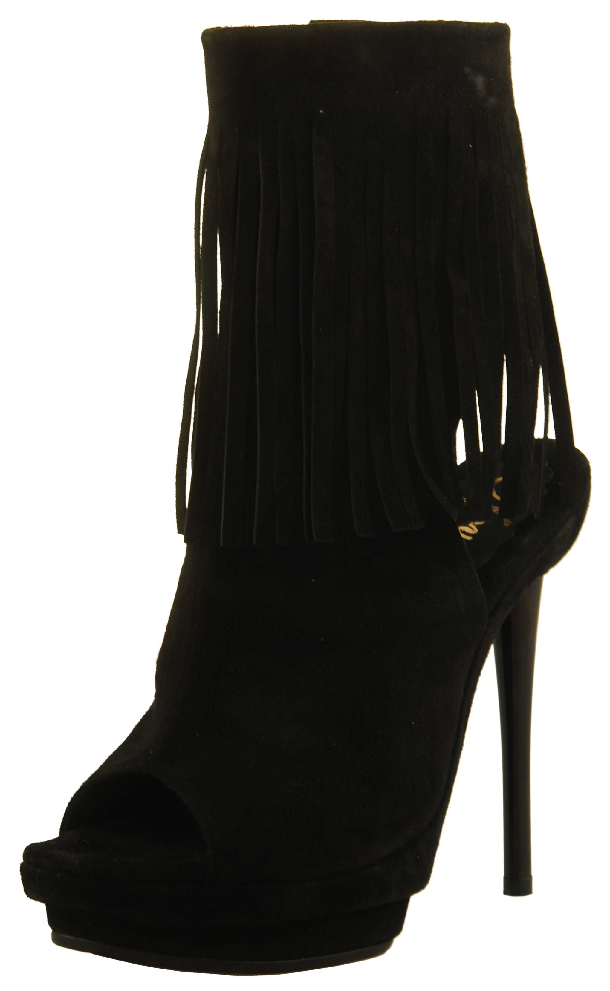 Emily Sandal Boot - Black Suede