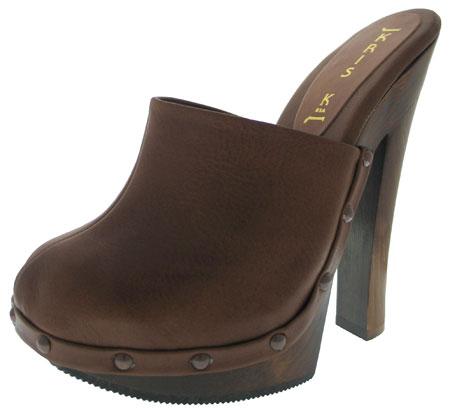 Dana  Heel - Brown Leather
