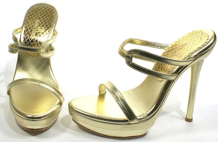Edie Heel - Gold Leather