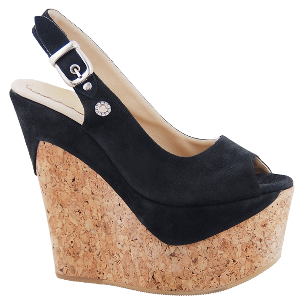 Paige Wedge - Black Suede