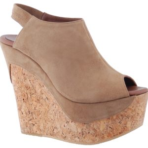 Juno Wedge - Taupe Suede