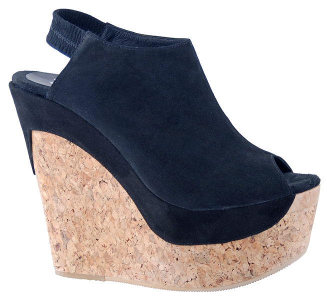 Juno Wedge - Black Suede