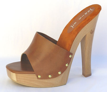 Candy Heel - Tan Leather