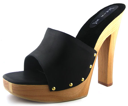 Candy Heel - Black Leather