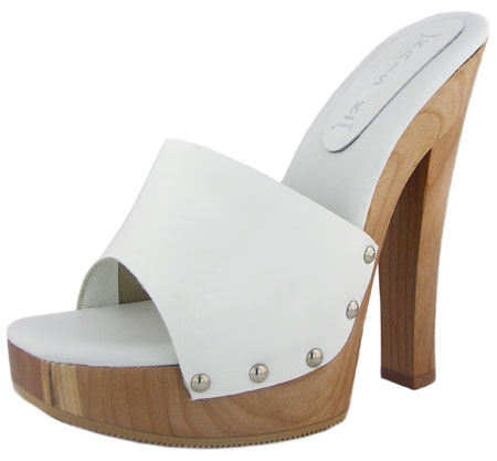 Candy Heel - White Leather