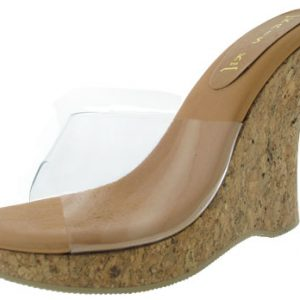 "Glass Platform 4"" - Camel Leather"