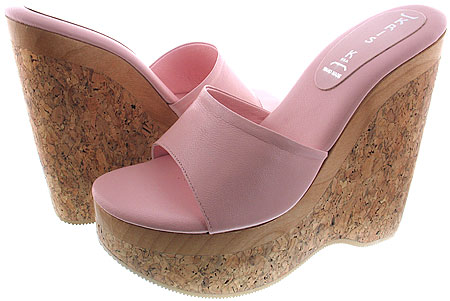 Claudia Platform - Baby Pink Leather