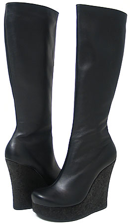 Sheri Boot - Black Leather 5""