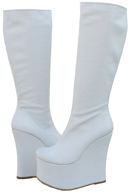 """Sheri Boot - White Leather 6"""""""