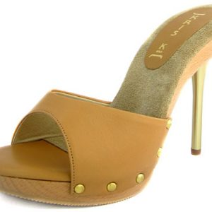 Rudy Heel - Camel Leather