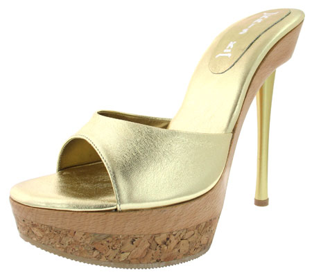 Rudy Heel - Gold Leather