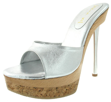 Rudy Heel - Silver Leather